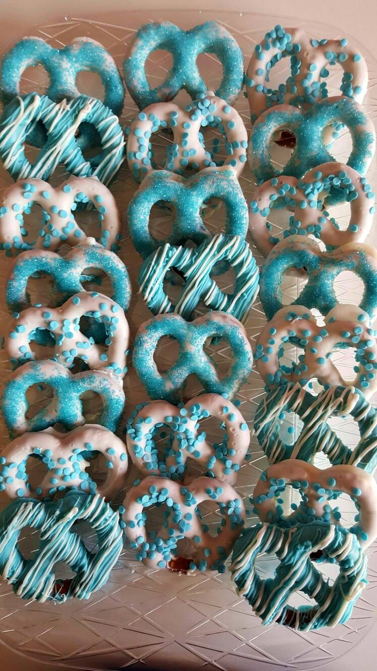 Chocolate Covered Pretzels Baby Shower Baby Blue Bridal Theme Its