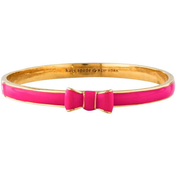 Pre-owned Kate Spade New York Bow Bangle (£29) ❤ liked on Polyvore