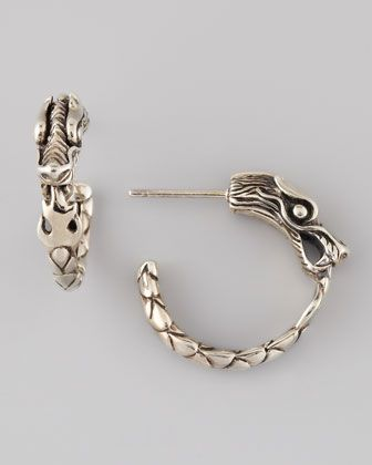 Naga Silver Small Hoop Earrings by John Hardy at Neiman Marcus.
