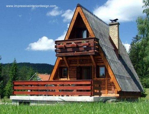 Casa alpina caba a de madera a frame casa rbol casa for Planos de cabanas campestres