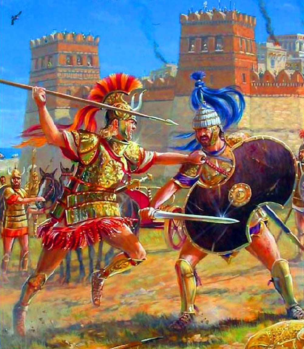 achilles and hector fighting by mark churms ancient war art  ancient greek warfare essays the warfare of ancient the scale and scope of warfare in ancient changed dramatically as a result of the greco
