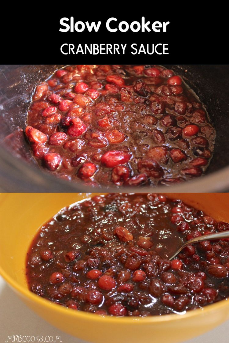 Christmas Side Dishes Pinterest.Homemade Slow Cooker Cranberry Sauce