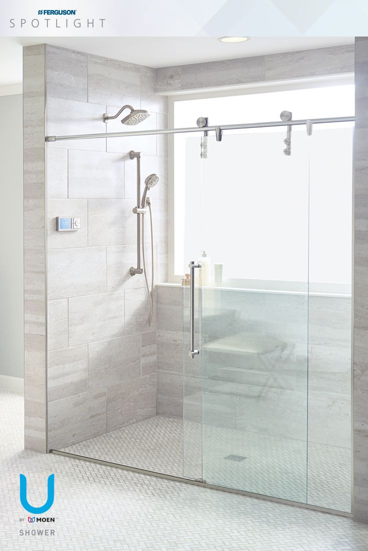 Start, pause or stop the shower using the digital controller\'s large ...