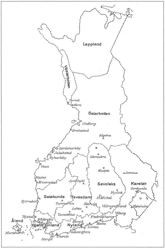 Suomen Maakunnat Ja Kaupungit Ruotsinkielisessa 1920 Luvun