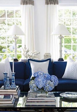 navy living room home ideas blue white living room living room rh pinterest com