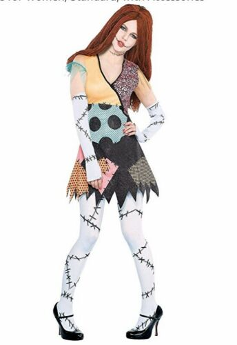 Womens Nightmare Before Christmas Style Sally Rag Doll Costume