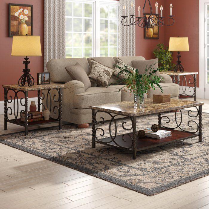 Best Lara 3 Piece Coffee Table Set 4 Piece Coffee Table Set 400 x 300