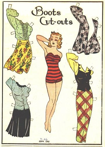 7-26-42 Boots paper doll / eBay http://www.pinterest.com/lynnm346/cartoon-and-comic-book-paper-dolls/