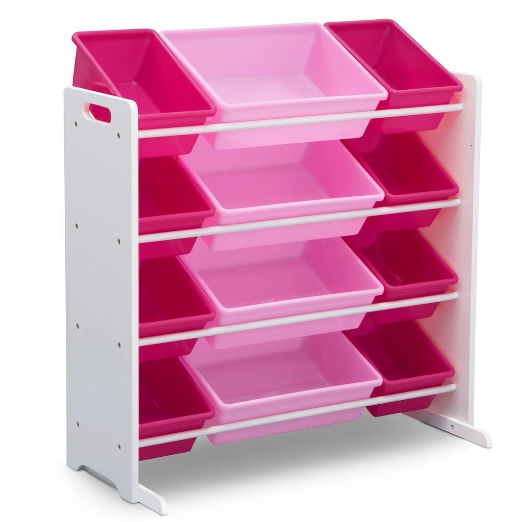 Delta Children Kids 12 Plastic Bins Toy Storage Organizer White Toy Storage Organization Toy Storage Kid Toy Storage