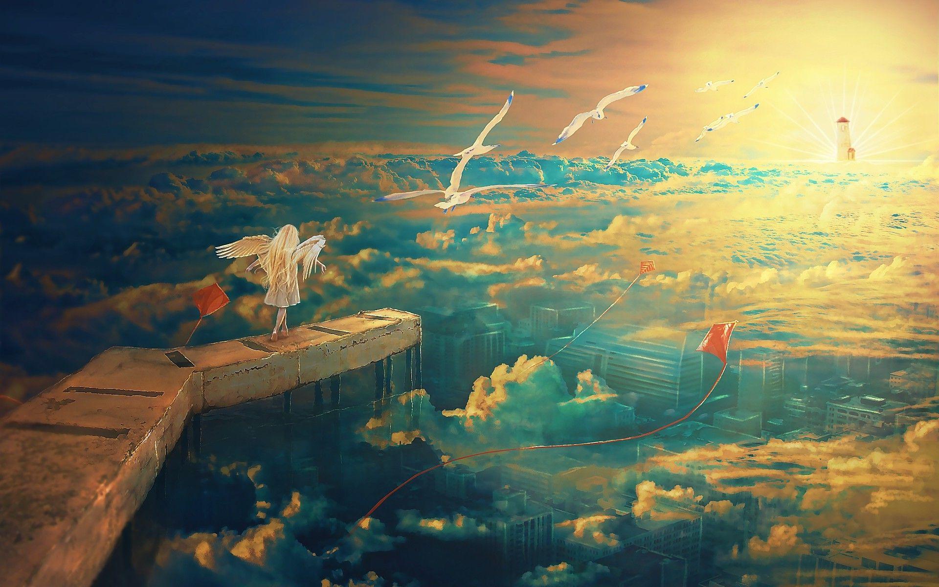 Anime Sunset Scenery