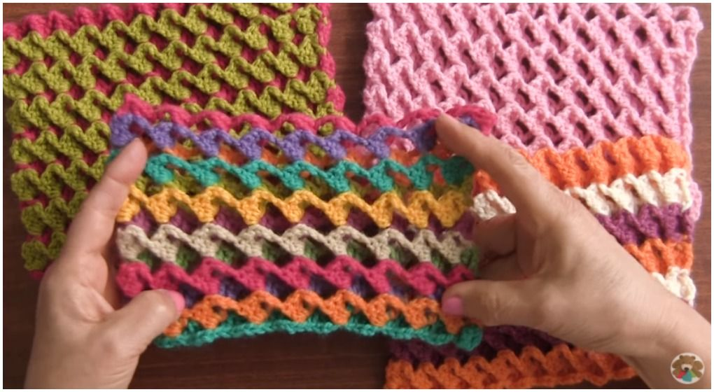 Learn To Crochet Turkish Stitch Reversible And 3D | Pinterest ...