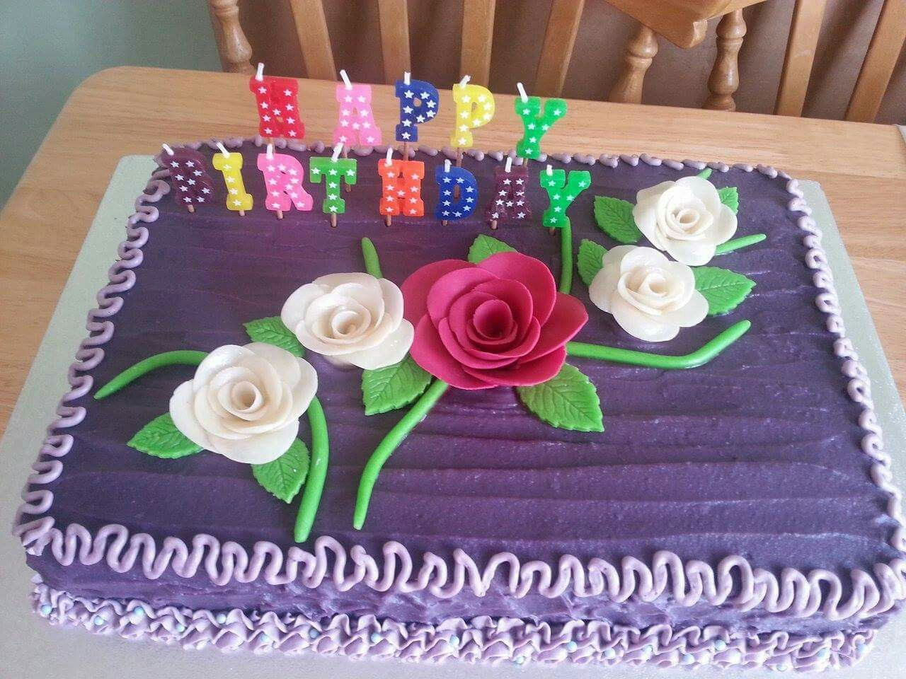 Purple Yam With Flowers Cakes Pinterest Cake