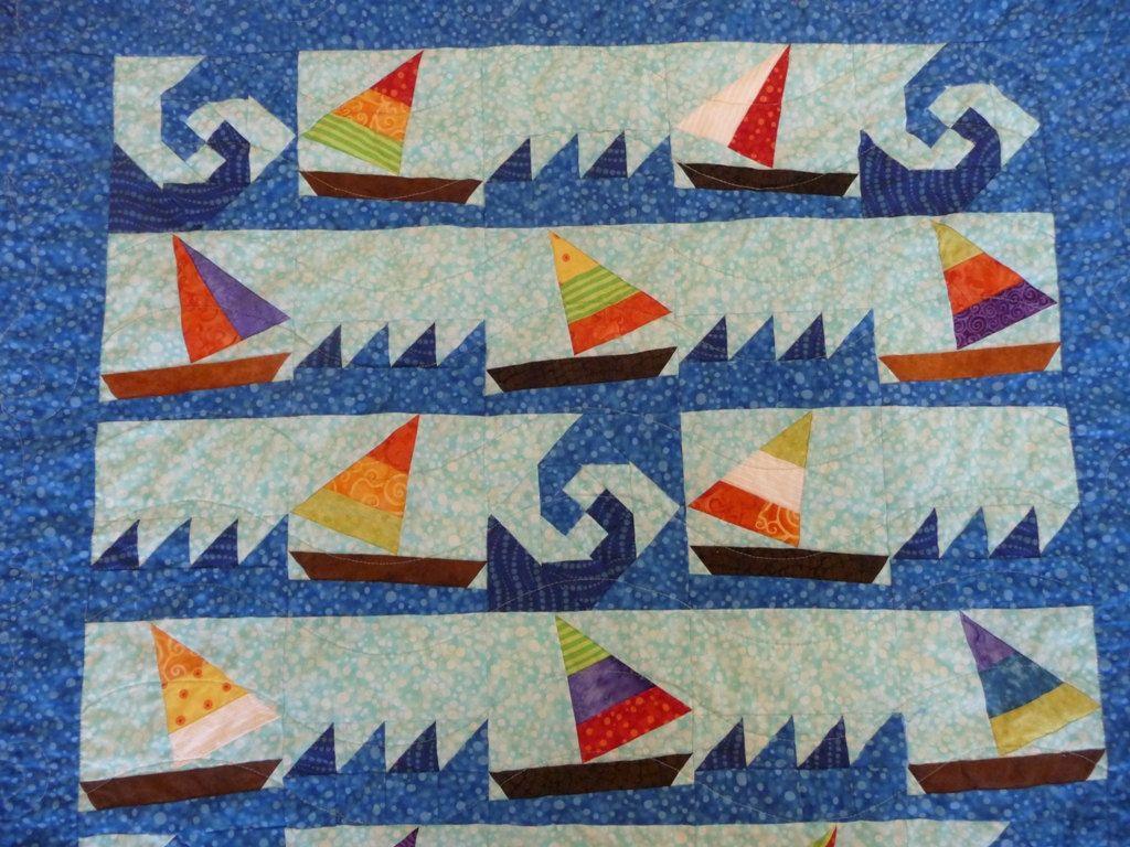 Sailboat Quilt Nautical Quilt Ocean Quilt Nautical
