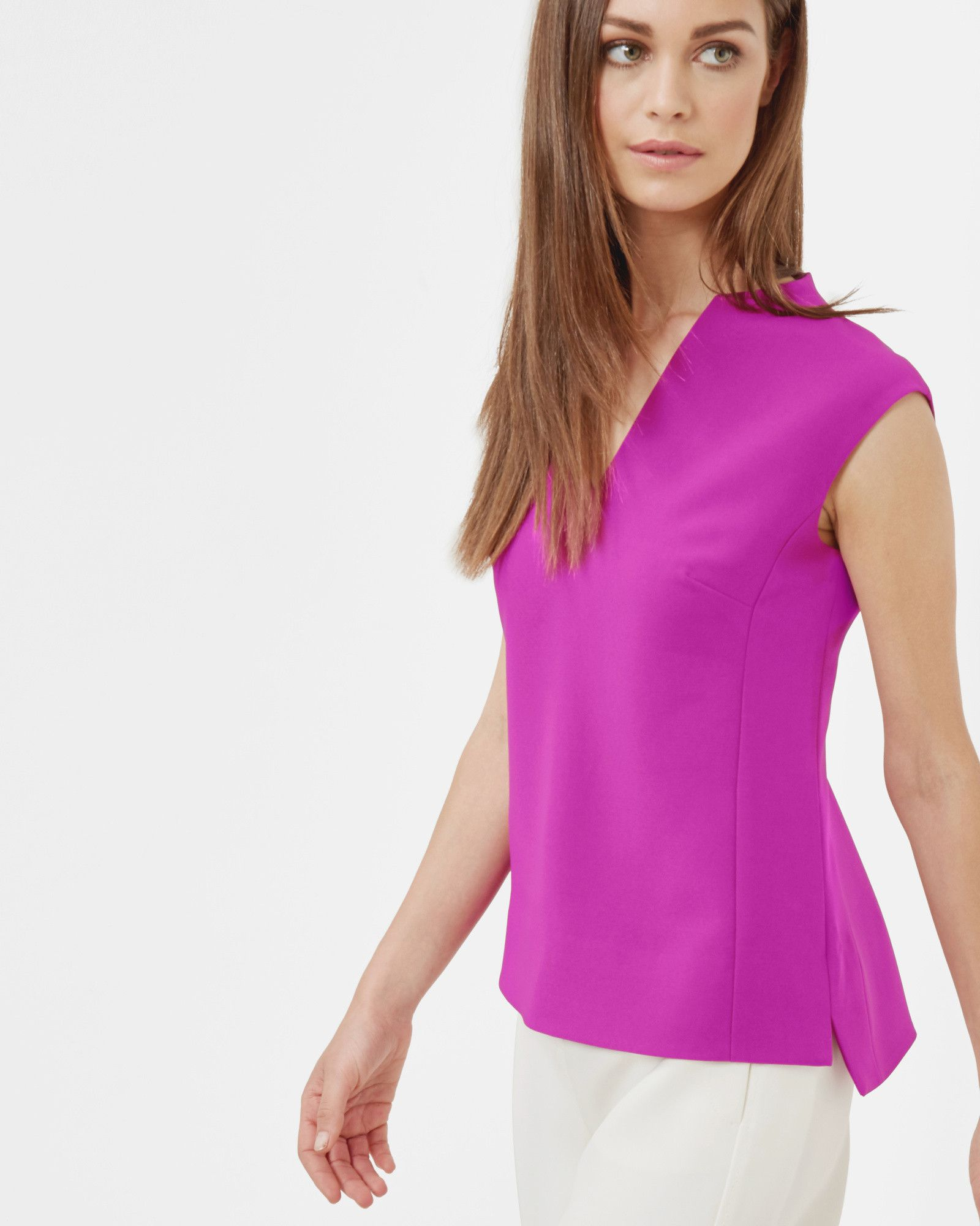 Ted Baker High neck top Purple