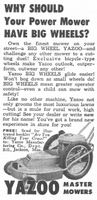 Yazoo Master Lawn Mowers 1956 Ad Picture Lawn And Garden Lawn Ads