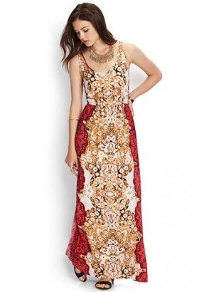 Cutout Printed Maxi Dress $29.80