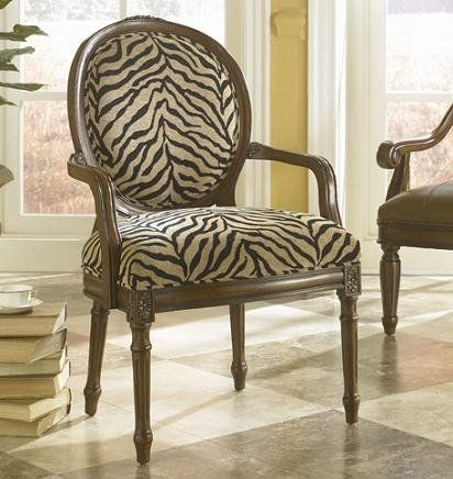 Beau Brown Zebra Print Chair! Great Accent.