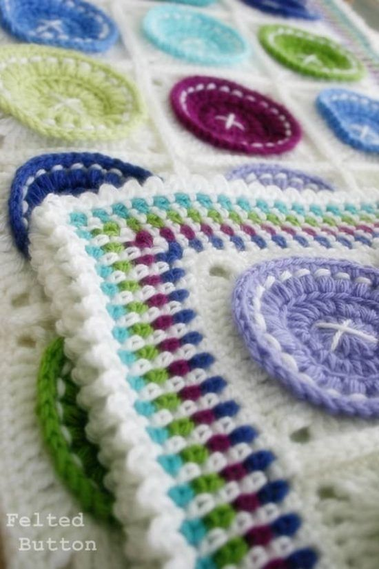 Felted Button Crochet Blanket Perfect For Your Next Project | Pinterest
