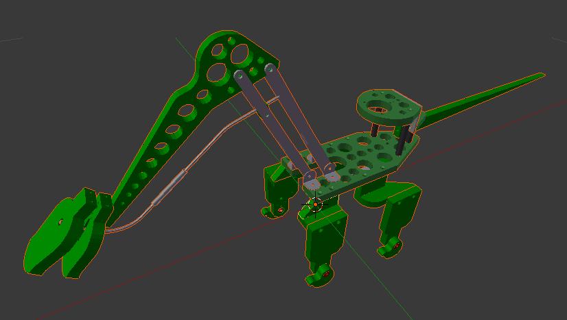 3D modelled components (viewed in Blender) | Robot dinosaur kit