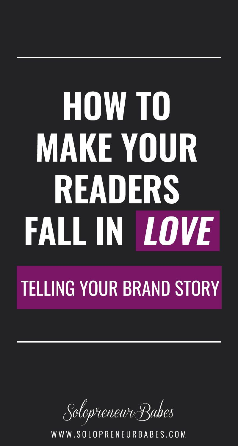 Want to make your readers fall in love with your brand? Time to tell them a story - Your Brand Story! Learn how: