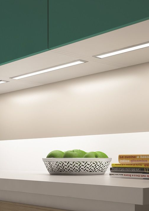Ledye Installed Under Cabinet From Domus Line A Recessed Led Profile Ideal For