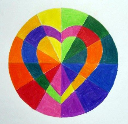 Color Wheel Design Ideas complementary color wheel | art ideas for the classroom