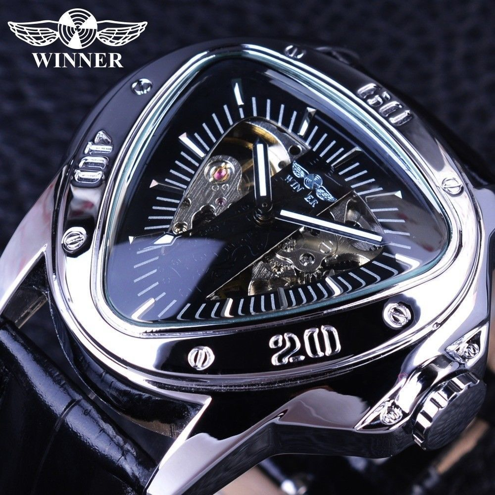 Creative Racing Design Triangle Design Luxury Automatic Mechanical Mens Watch #Winner #Sport