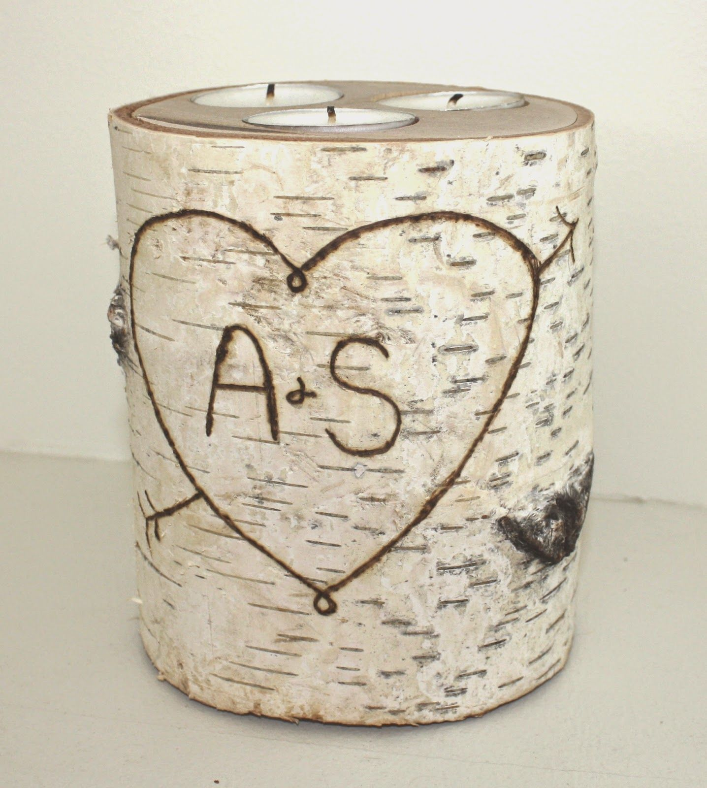 A load of craft tutorial how to make birch log candle for Log candle holder how to make