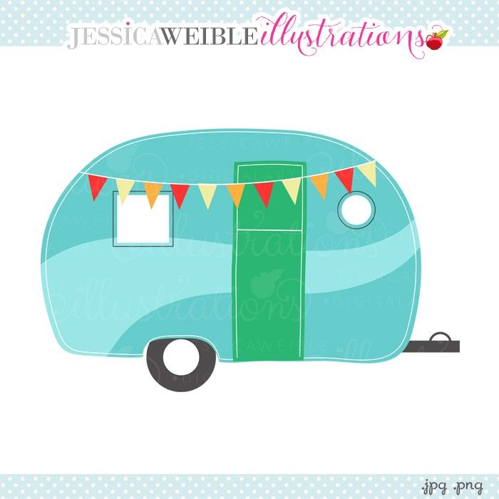 Caravan Camper Clipart - JW Illustrations | JWI // Create with ...
