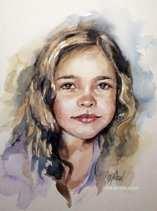 Watercolor Portrait By Christine Karron 9x12 Watch Video Https
