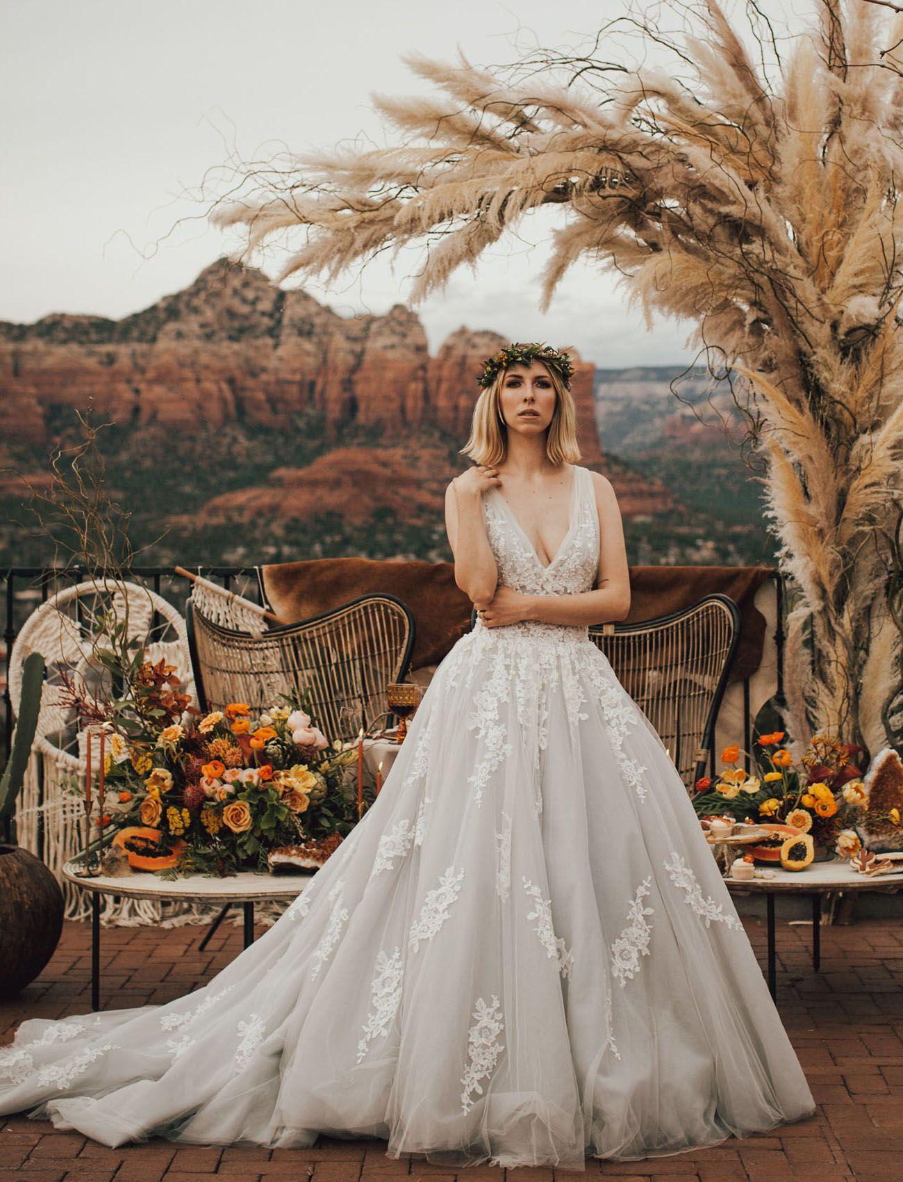 Smoky Citrine Crystals In This Sedona Wedding Inspiration Sedona