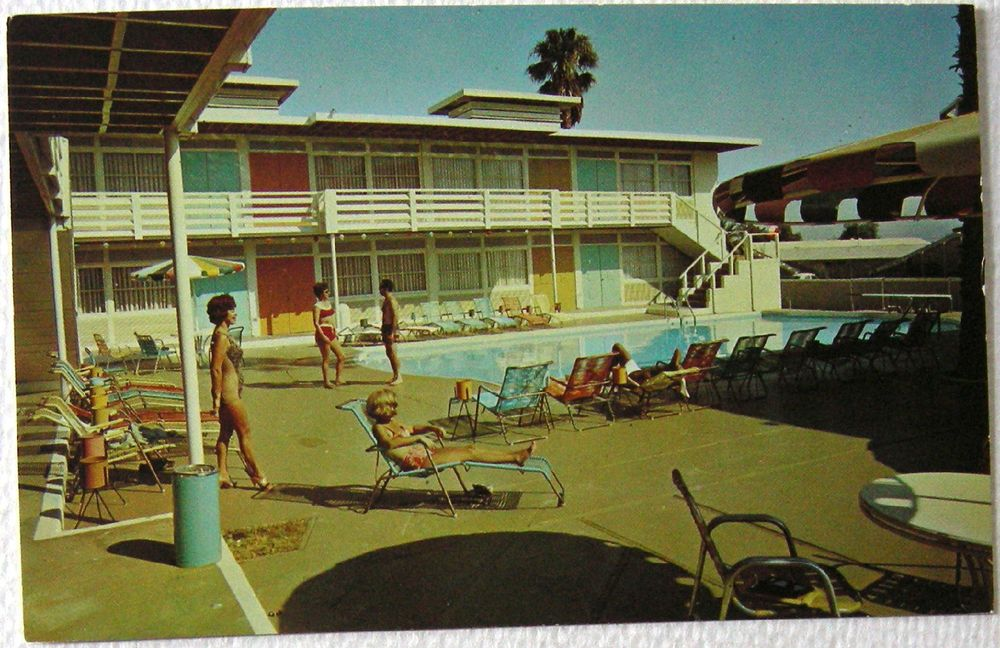 Postcard Palm Springs Ca President Motor Hotel And Health Spa Motel Pool