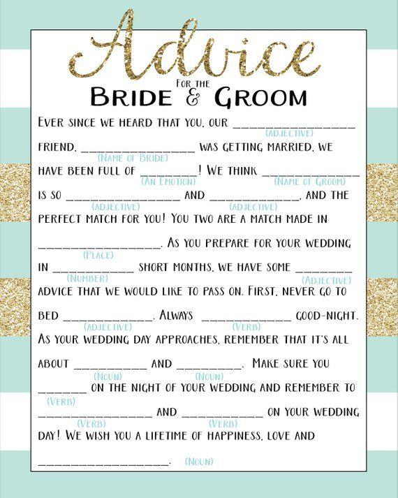 image regarding Printable Wedding Mad Libs named Printable Marriage Insane Lib Shower Activity Tips towards the