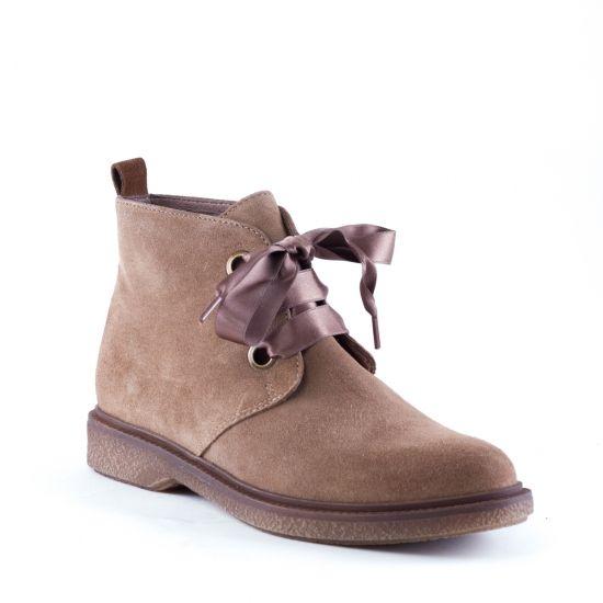 Desert Boots femme, modèle Virton Crute Tabaco Cognac de Minka Design