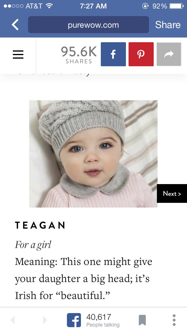 Baby girl name: Teagan | Irish baby names, Cute baby names ...