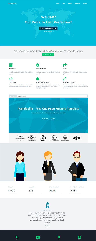 Plantilla web responsiva basada en Bootstrap gratis | Plantillas ...