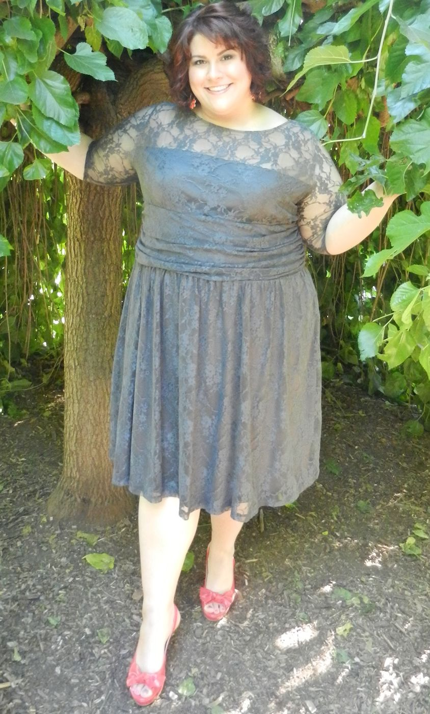 259cf59482 Lovin  this pic of blogger  Diva  Discourse of a Divine Diva  in the Luna  Lace Dress. Hailey is 5 9