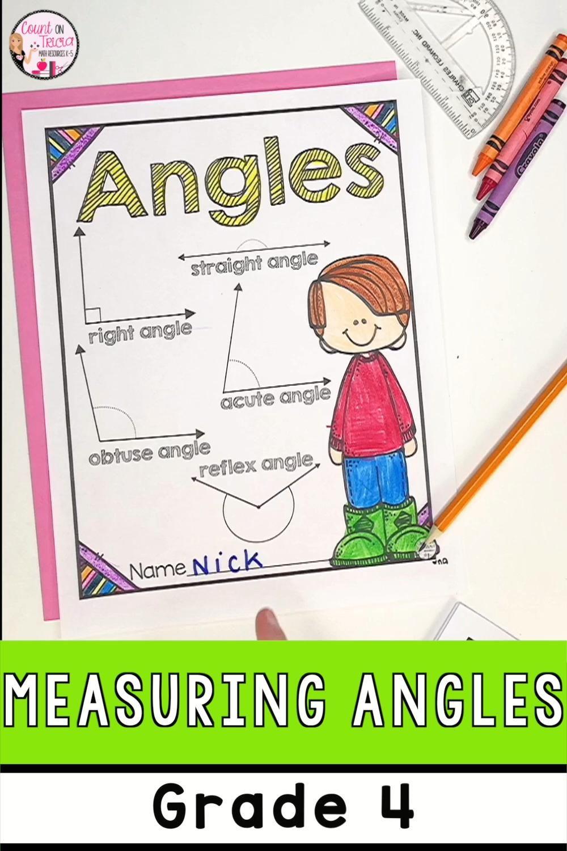 Angles Activities 4th Grade Video Math Activities Angle Activities Math Activities Elementary [ 1500 x 1000 Pixel ]