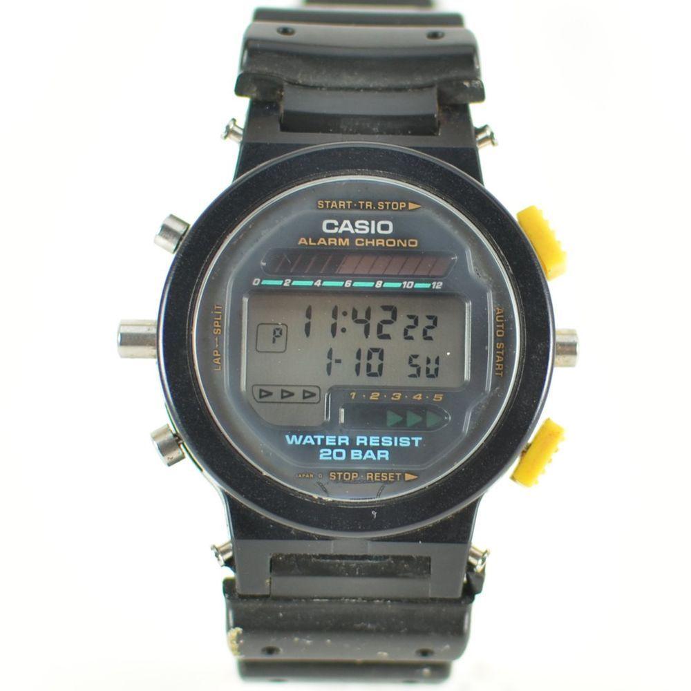 e859c443d0d6 Vintage Mens 1990s Casio G-Shock Digital Chronograph Watch DW-6200 ...