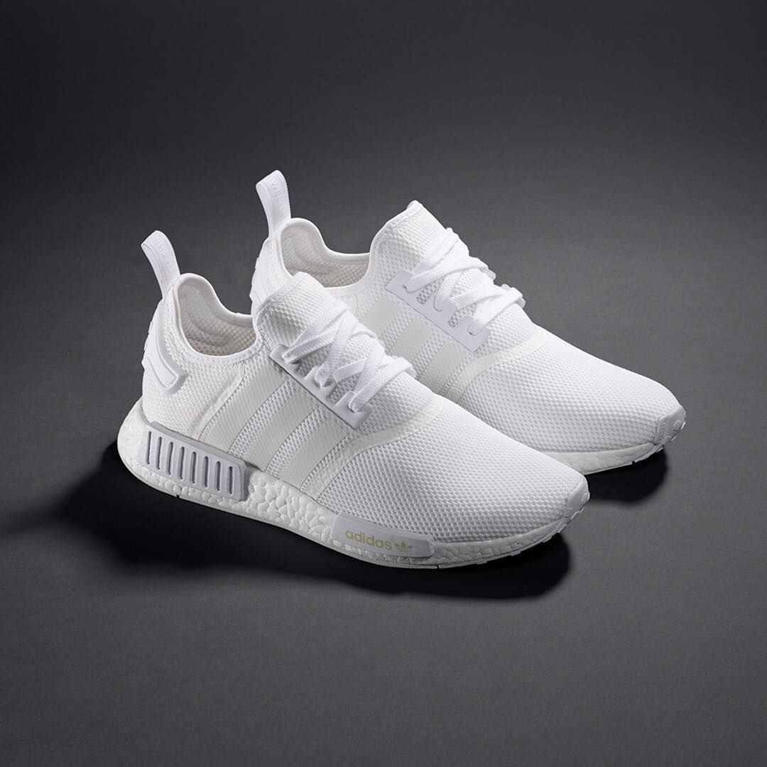 Back at it again. Introducing an all white #NMD with our signature BOOST midsole for supportive style. Dropping March 26