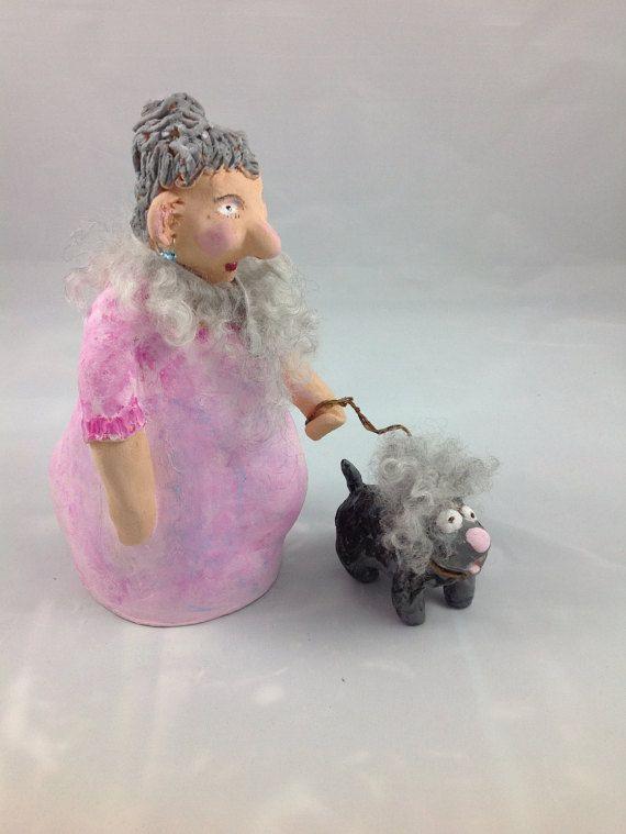 Unikat Keramikfigur- Hannelore und Giebert. Die beiden sind ein ...
