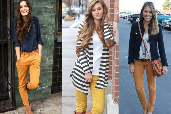 b91c7db95c pantalon verde mujer combinacion - Buscar con Google Pantalones Color  Mostaza