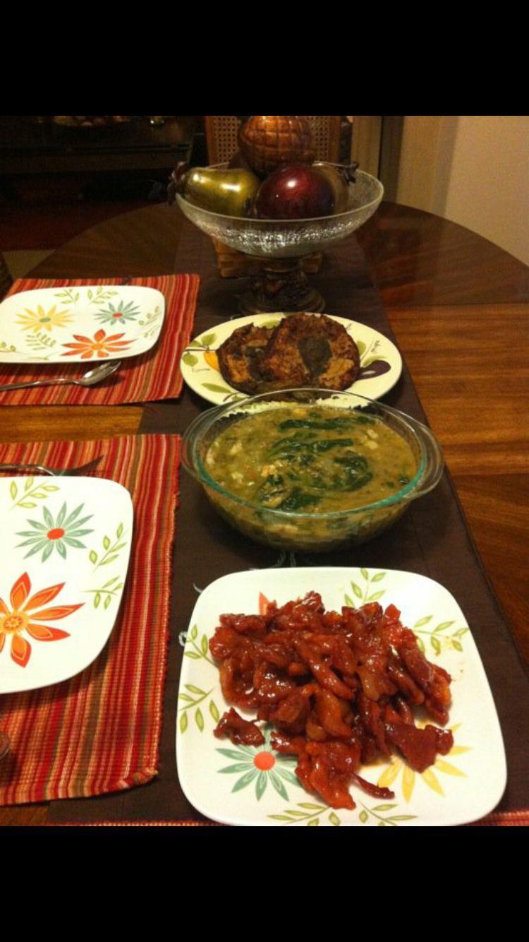 Pork Ticino and mongo soup