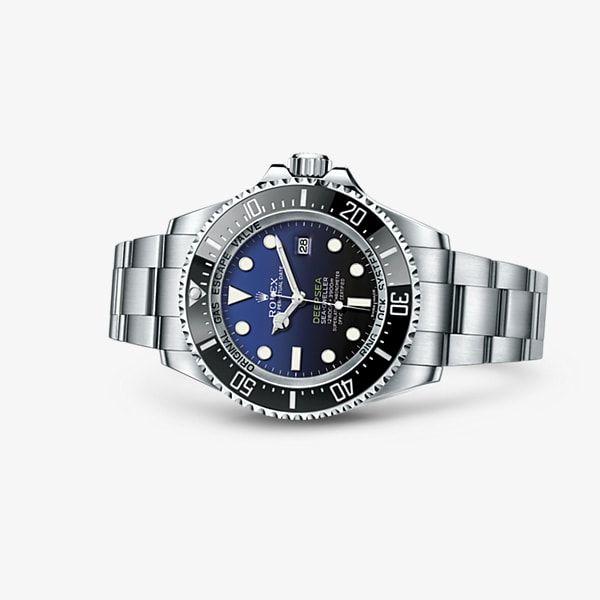 91343e88f3c Descubra o relógio Rolex Deepsea com mostrador D‑blue em Aço 904L ...
