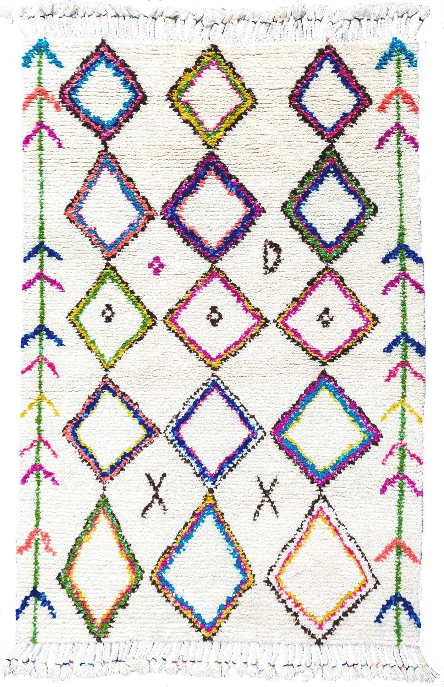 zagora diamond moroccan shag rug