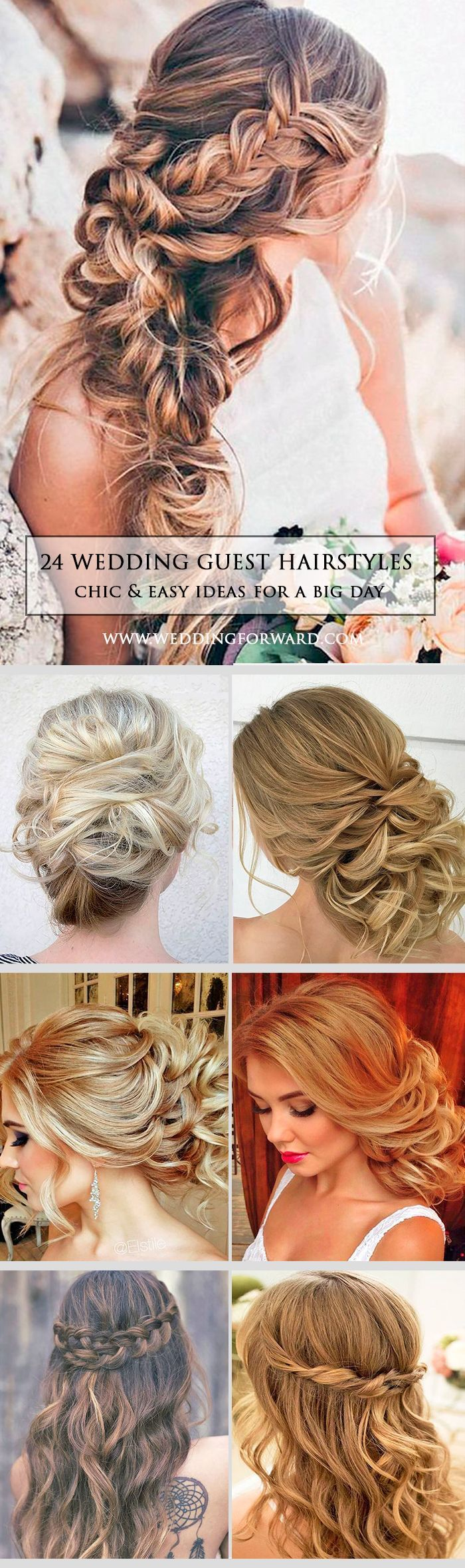chic and easy wedding guest hairstyles wedding guest