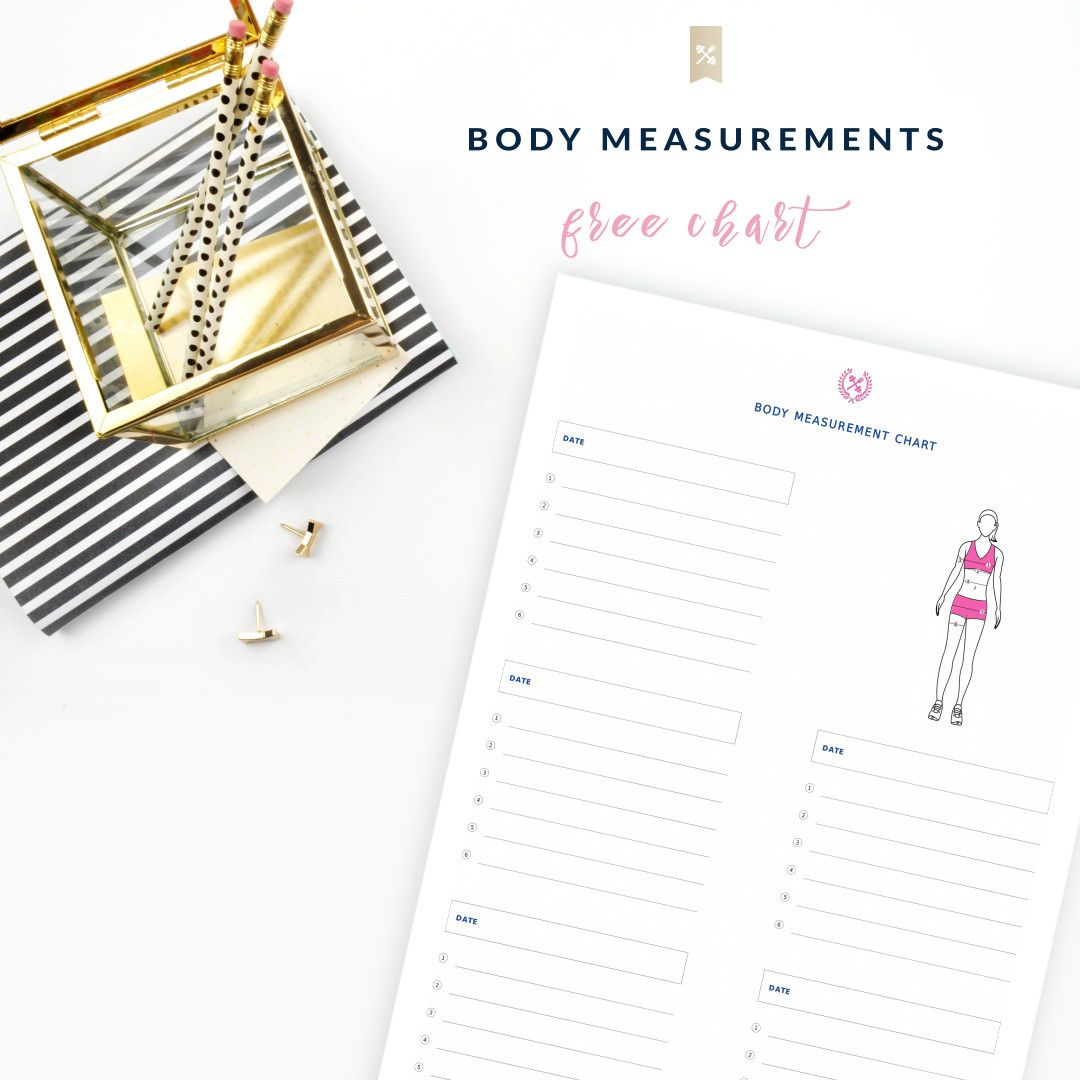 Body measurement chart body measurement chart body measurements weight loss print our free body measurement chart and measure each body part every 4 weeks get nvjuhfo Choice Image
