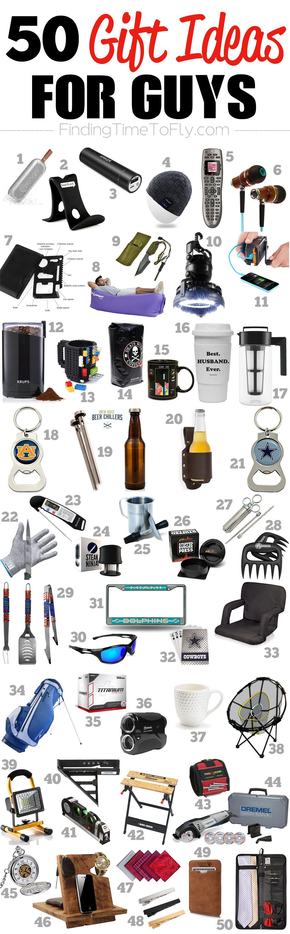 Saving This List Of 50 Gifts For Guys A Great Gift Ideas Men To Shop Birthdays Valentines Day Fathers Graduation Or Christmas