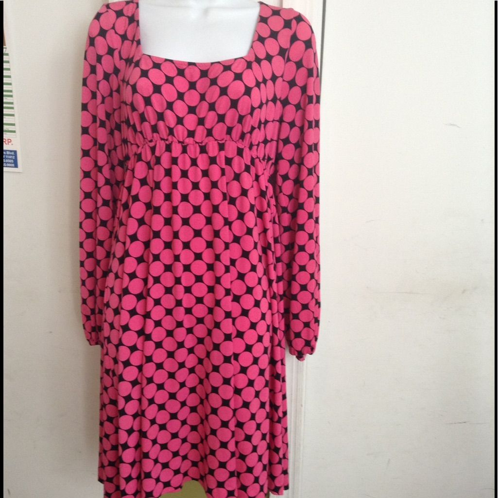 Pink And Black Long Sleeve Dress, Inc, Large