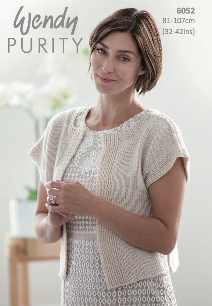 Wendy Purity Edge to Edge Cardigan Knitting Pattern PDF | Knit ...